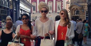 FOR WEB Fashion City York - The models stroll through York showcasing the finished looks