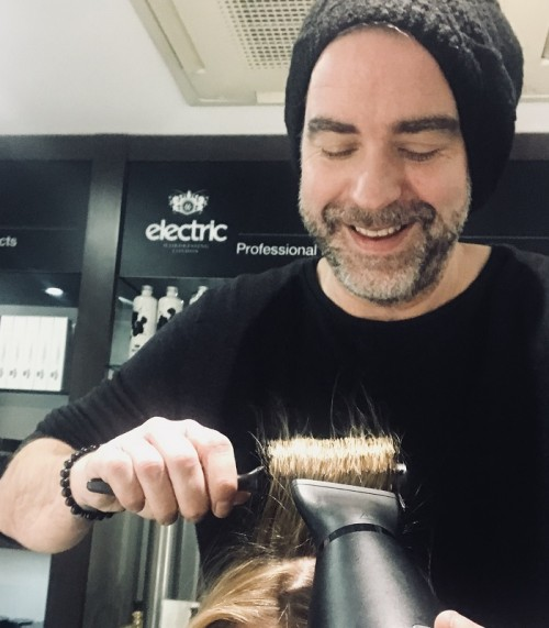 Sean Dawson doing hair - www.salonbusiness.co.uk