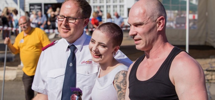 Stylist Raises Cash For Charity Via Sponsored Head Shave