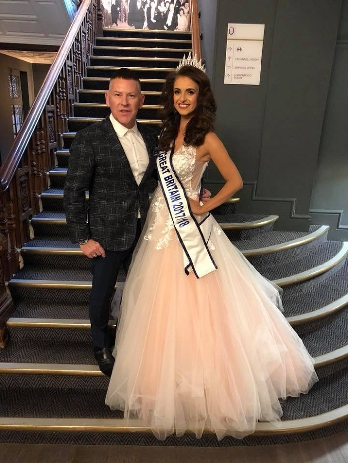 Barrie Stephen with Miss GB - www.salonbusiness.co.uk