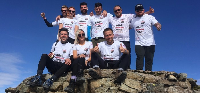 REACH THE PEAK: ALAN HOWARD TEAM CLIMB FOR THE HAIRDRESSERS' CHARITY