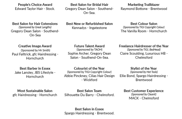 essex winners - www.salonbusiness.co.uk