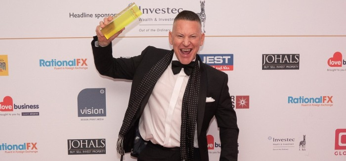 Barrie Stephen named Business Person of the Year in East Midlands Entrepreneurship Awards