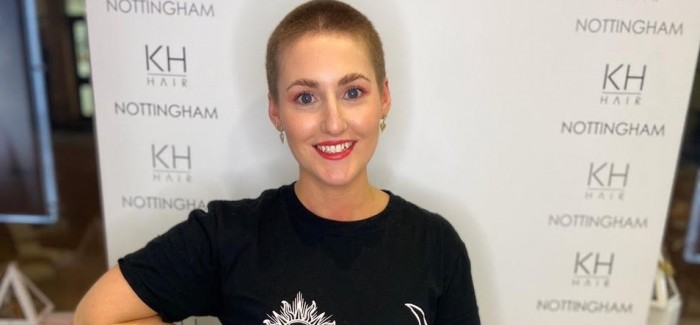 Award-winning hairdresser has head shaved for cancer charity