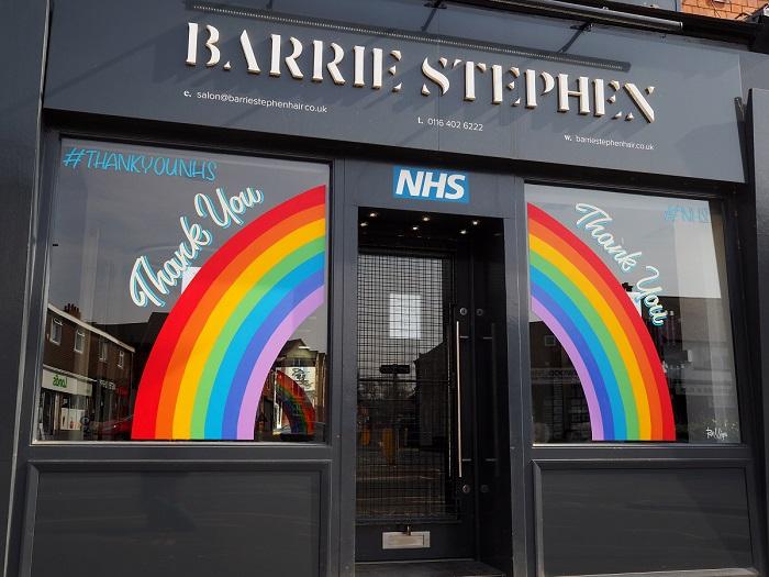 Rainbow Window - www.salonbusiness.co.uk