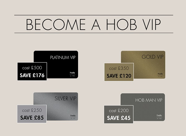 hob vip card - www.salonbusiness.co.uk