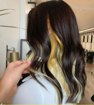 peekaboo yellow hair - www.salonbusiness.co.uk