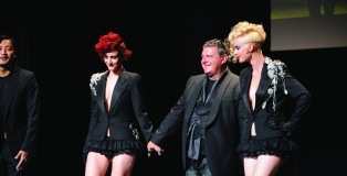 Tim with models