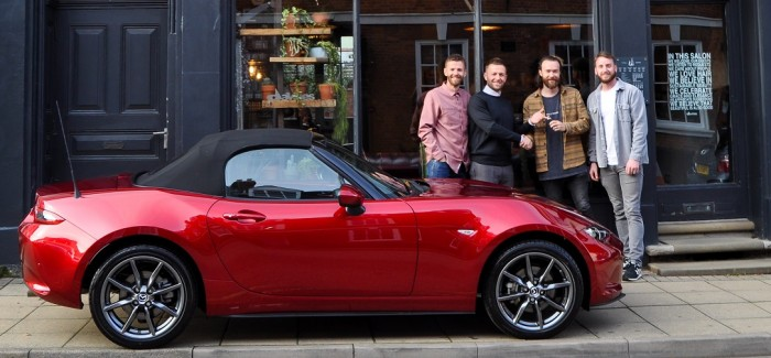 Nanokeratin & Alan Howard Surprise Salon Owners with New Mazda MX5