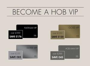 hob vip card - www.salonbusiness.co.uk